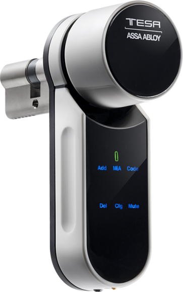 Cerradura inteligente Tesa Entr con apertura sin llaves desde samrtphone o tablet