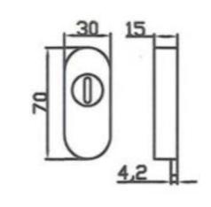 Escudo De Seguridad Para Cerraduras De Puerta Met Lica Sukot