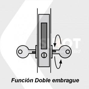 Embrague doble para bombin o cerradura
