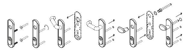 Escudo disec TF001I para puertas cortafuegos RF