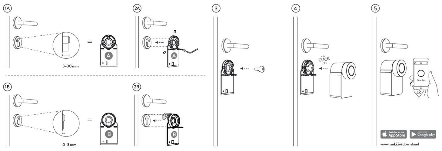 Instalación de Nuki Smart Lock