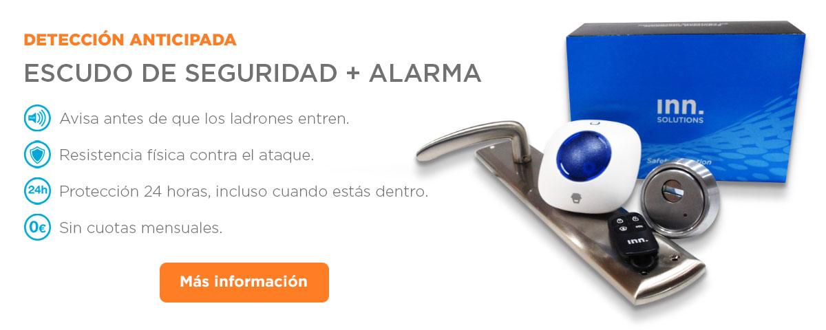 Detección Anticipada: Escudo de seguridad + Alarma