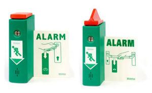 Salidas de emergencia: disuasión con alarma para desbloqueo mecánico
