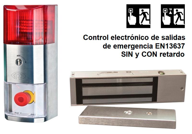 Salidas de emergencia: disuasión y control electrónico de puerta con o sin retención temporal