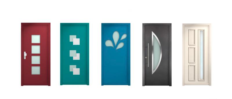 Puertas de seguridad INN.Door Ecofeel en Pamplona: acabados disponibles